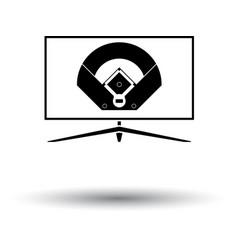 baseball tv translation icon vector image vector image