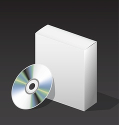 box for DVD with a disk vector image