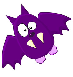 Cartton Of Purple Bat vector image vector image