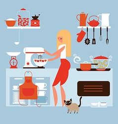 cooking at home vector image vector image