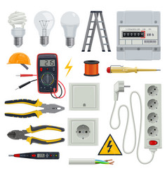 electrician tools set vector image