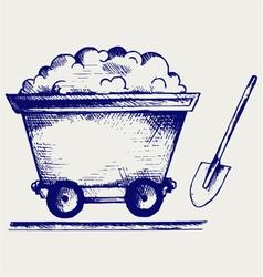 Mining cart vector image vector image
