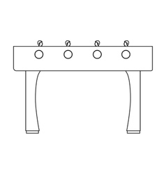Table football icon in outline style isolated on vector image