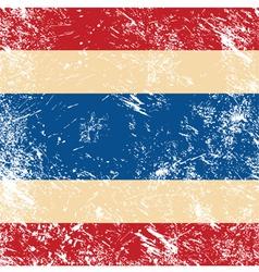 Thailand retro flag vector image vector image