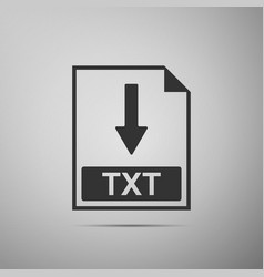 txt file document icon download txt button icon vector image