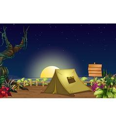 A campsite vector