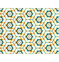 Abstract seamless pattern assembled from hexagons vector