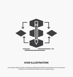 algorithm design method model process icon glyph vector image