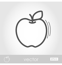 Apple outline icon harvest thanksgiving vector