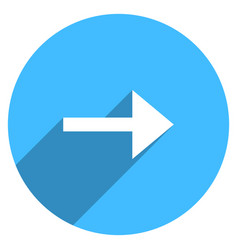 arrow sign circle icon vector image