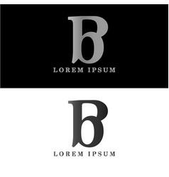b logo initial letter design template vector image