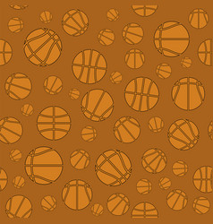 basketball creative logo seamless pattern vector image