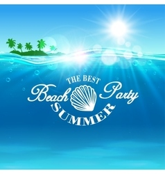 Beach Party poster The best summer placard vector