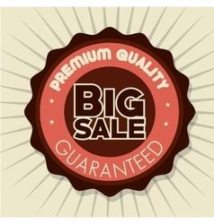 Big sale premium quality badge white background vector
