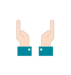 businessman hands up with fingers design vector image