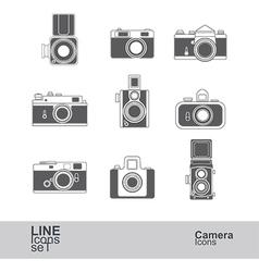 Camera icons vector