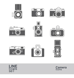 Camera icons2 vector