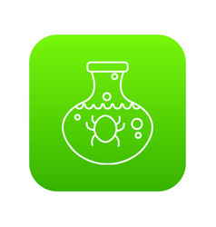 chemical bug icon green vector image