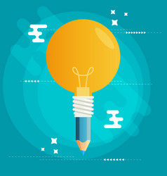 creative idea flat design vector image