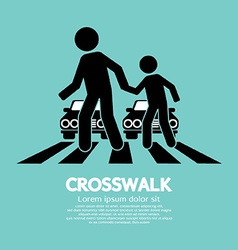 Crosswalk Graphic Sign vector image