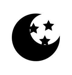 Cute moon with stars vector