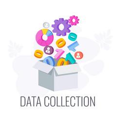 data collection icon market research information vector image