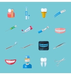 Dentist Isolated Flat Icons vector