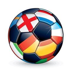 Euro football vector