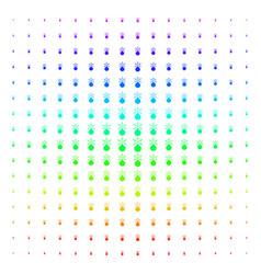 Fireworks detonator icon halftone spectrum effect vector