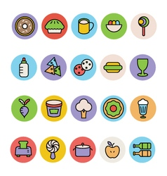 Food colored icons 14 vector