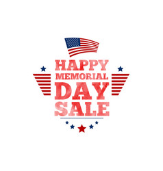 happy memorial day sale banner national american vector image
