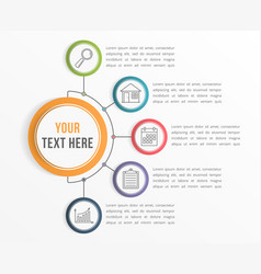 infographic template with five steps vector image