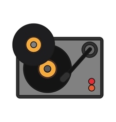 Isolated vinyl instrument design vector