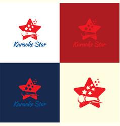 karaoke star logo and icon vector image