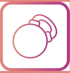 Kettlebell icon vector
