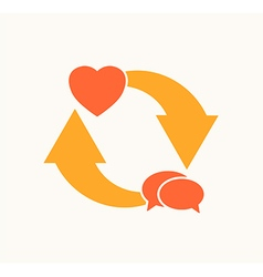 Love cycle vector