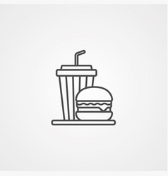 meal icon sign symbol vector image