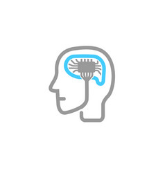 memory human brain logo vector image