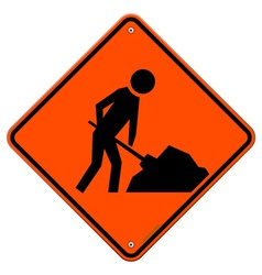 Men at Work Sign vector image