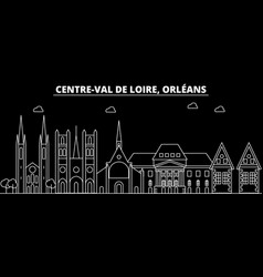 Orleans silhouette skyline france - orleans vector