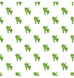 Percent sign made of green slime vector
