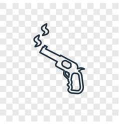 Pistol concept linear icon isolated on vector