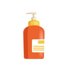 Plastic bottle with dispenser for cream lotion vector