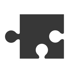 puzzle piece icon silhouette vector image