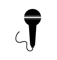 Radio microphone isolated icon design vector image