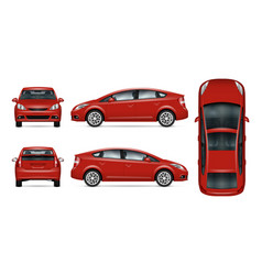 red car template vector image