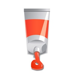 red paint tube vector image