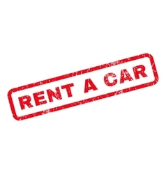 Rent a Car Rubber Stamp vector