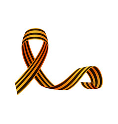 Russian victory day ribbon crossed with long tail vector