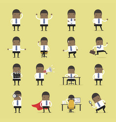 set of african business businessman vector image